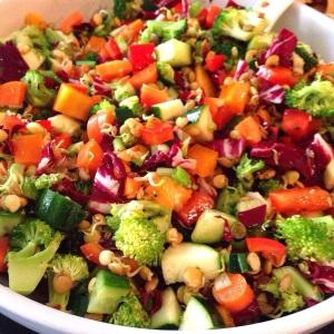 Sprouted Lentil Chop Chop
